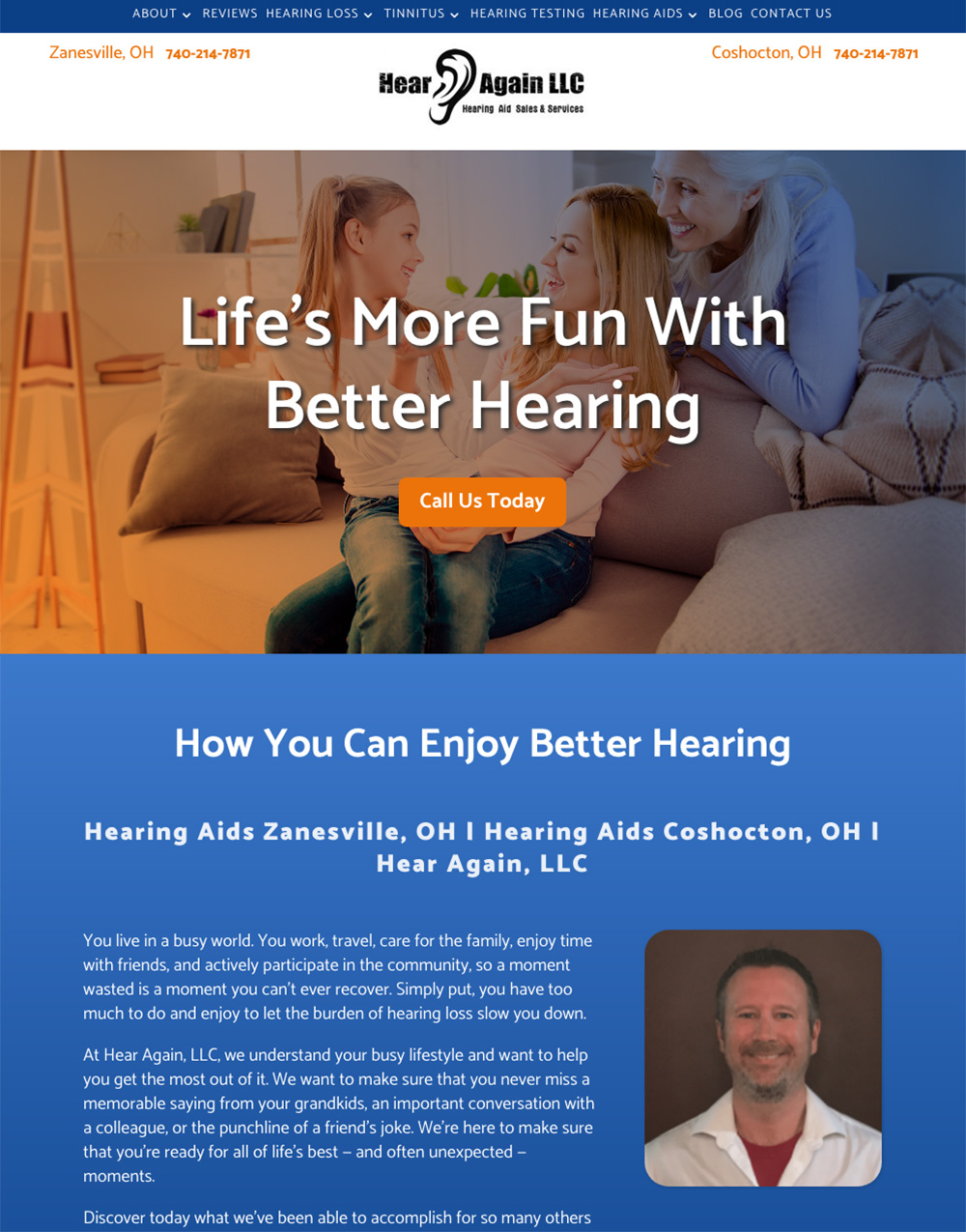 Audiology Website Design