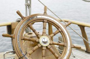 Photo of sailboat tiller