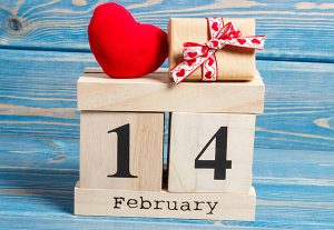 Picture of heart and February 14th