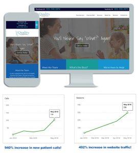 Quality Hearing LI Medical Website Design