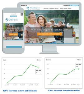 Hearing Aids by Tricia Leagjeld Medical Website Design