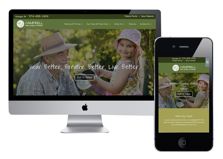 ENT Website Designs That Increase Patient Calls